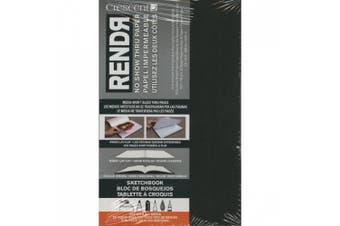 (8.9cm  by 14cm ) - Crescent Cardboard Co Paper RENDR No Show Thru Lay Flat Sketch Book 8.9cm x 14cm , 32 Sheets
