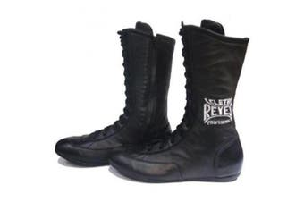 Cleto Reyes Leather Lace Up High Top Boxing Shoes - Size: 8 - Black