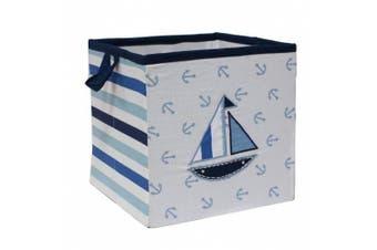 Bacati Little Sailor Storage Box, Small