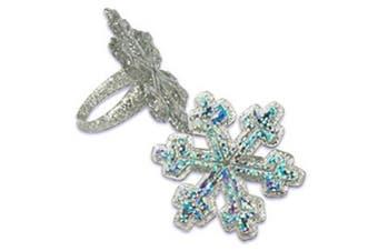 Snowflake Cupcake Rings - Set of 24