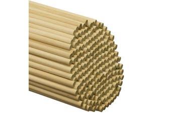 (25) - Wooden Dowel Rods - 1cm x 90cm Unfinished Hardwood Sticks - For Crafts and DIY'ers - Craftparts Direct - Bag of 25
