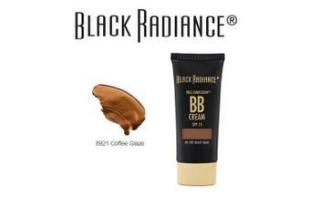 (8921coffeeglaze) - Black Radiance True Complexion BB Cream Oil Free Beauty Balm, SPF 15, 8921 Coffee Glaze, 30ml