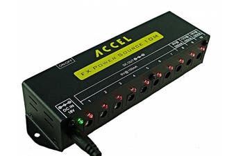 Accel FX Power Source 10M, 10 Output Power Supply for Guitar Effects Pedals and Pedal Boards