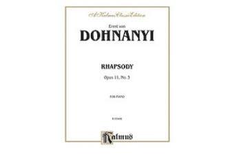 Alfred 00-K03408 Dohnanyi Rhapsody Op11-3 Piano Book