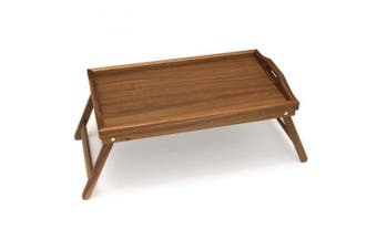 Lipper International Acacia Bed Tray with Folding Legs