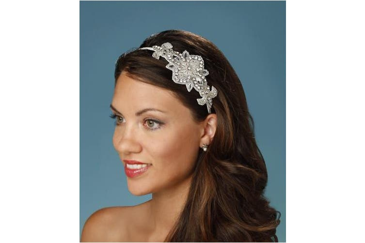 Darice David Tutera Applique Embellished Headband, Cream
