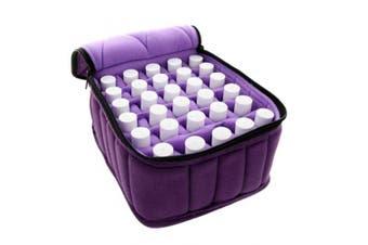 (Purple) - Essential Oils Storage - 30 Bottles Essential Oil Carrying Case - Essential Oils Case 5ml 10ml 15ml Essential Oil Travel Case, Purple
