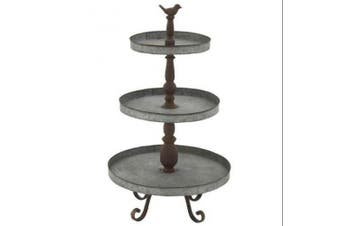 """Deco 79 54347 Metal 3 Tier Tray Stand, 16"""" x 29"""""""