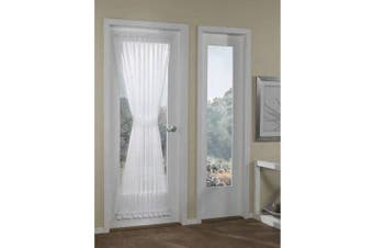 (white) - Better Homes and Gardens Crushed Voile Door Curtain Panel, 51x72