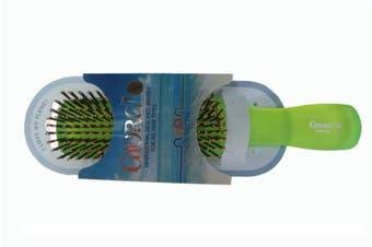 (Green) - Giorgio Neon 1 Hair Brush, Green, Large