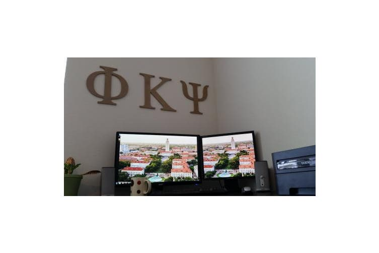 (30cm , Psi) - 30cm Wooden Greek Letter Psi - Fraternity/Sorority Premium MDF Wood Letters (30cm , Psi)