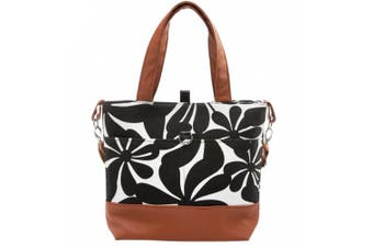 Urban Mom, . Nappy Bag, Black Floral Tote