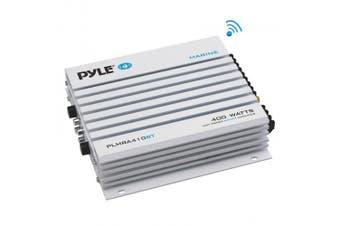 PYLE PLMRA410BT ELITE SERIES WATERPROOF BLUETOOTH(R) 400-WATT CLASS AB AMP (4 CHANNELS)