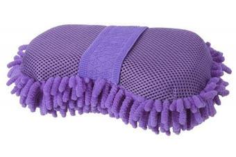 (Purple) - Tough 1 Micro Fibre Bristle Sponge