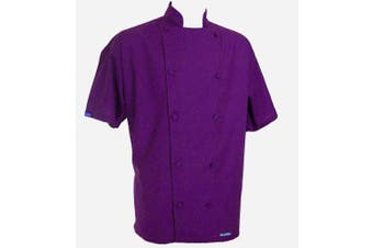 Chefskin SMALL Chef Jacket Coat Purple Ultra Ligthweight Cool Comfortable