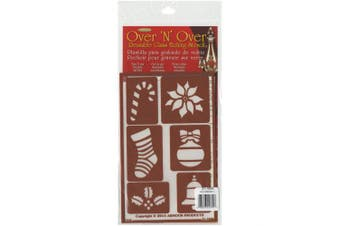 (13cm  by 20cm ) - Armour Products Over N Over Glass Etching Stencil, 13cm by 20cm , Christmas