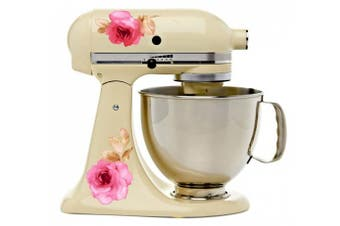 Watercolour Roses Floral Bakery Kitchenaid Mixer Mixing Machine Decal Art Wrap