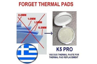 K5 PRO viscous thermal paste for thermal pad replacement 20g (Apple iMac, Sony PS4 & PS3, XBOX, Acer Aspire etc)