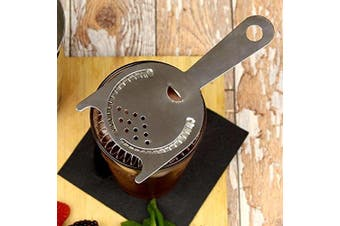 Professional 2 Prong Cocktail Strainer | Stainless Steel Cocktail Strainer, Two Eared Professional Strainer, Hawthorne Cocktail Strainer