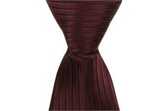 Matching Tie Guy 4273 R10 - 28cm . Zipper Necktie - Red With Black Pinstripe 24 Month to 4T