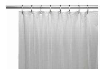 Carnation Home Fashions USC-3-10 3 Gauge Vinyl Shower Curtain Liner Frosty Clear