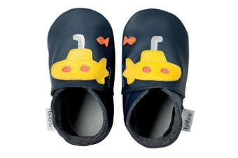 (Taille 5 XL) - Bobux BBG 4162 Baby Shoes with Giant Submarines Design Blue / Yellow