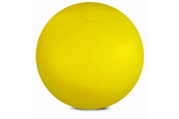 (Yellow) - Inflatable solid colour beach ball for swimming pool and outdoor party (Yellow)