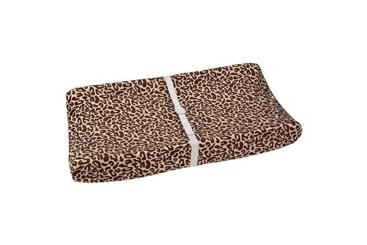 (Brown, Ivory) - Disney Lion King Simba's Wild Adventure Super Soft Changing Pad Cover, Brown, Ivory