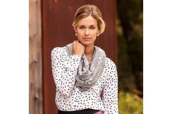 (Nightingale) - Bebe au Lait Premium Muslin Nursing Scarf, 100% Cotton Breathable & Lightweight, Stylish & Discreet for Breastfeeding - Nightingale