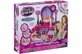(1) - Cra-Z-Art Shimmer and Sparkle Crazy Lights Super Nail Salon Kit