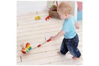 Hape E0340 Butterfly Push and Pull Wooden Toy