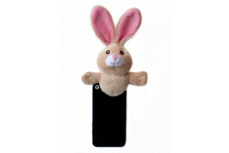 (BUN003, Brown) - Shutter Huggers BUN003 Mini Shutter Hugger for Portable Video Devices, Bunny (Brown)