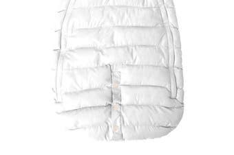 (Large, White) - 7AM Enfant Doudoune One Piece Infant Snowsuit Bunting, White, Large