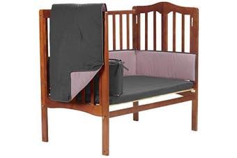Baby Doll Reversible Port-a-Crib Bedding, Grey/Pink