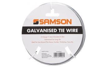 Samson Utility Tie Galvanised Wire 16 Gauge 1.6mm x 30m