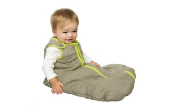 (Small (0-6 Months), Khaki/Lime Green) - Baby Deedee Sleep Nest Sleeping Sack, Warm Baby Sleeping Bag fits Newborns and Infants,Small (0-6 Months)