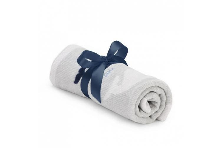 DEMDACO Plush Whale Chenille Blanket, 60cm x 60cm
