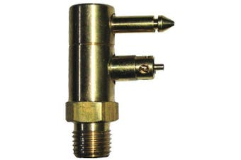 Invincible Marine Fuel Line Connector, Yamaha Male Fitting, 2-Prong