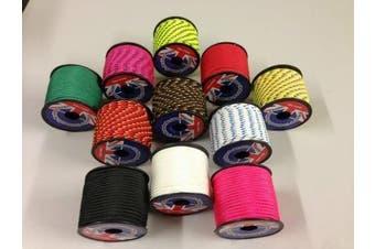 (Pink) - Rota Marine 3mm 19Mt Mini Reels Polyester Braided Rope Boat Tent Kayak Mini Spools