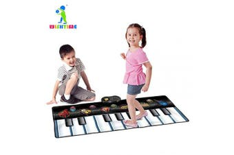 (Keyboard Dance Mats) - WISHTIME Keyboard Dance Mats Musical Instrument SL15001 Kids Giant Electronic Piano Music Party Games Playmat Educational Toy Instrument For Toddlers