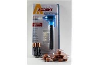 Azdent Tooth Polisher + 14 Cups Qartz Valencia Orange Medium Grit Professional Tooth Polish