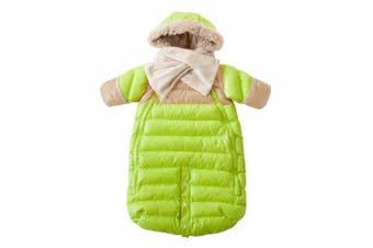 (Large, Neon Lime/Beige) - 7AM Enfant Doudoune One piece Infant Snowsuit Bunting, Neon Lime/Beige, Large