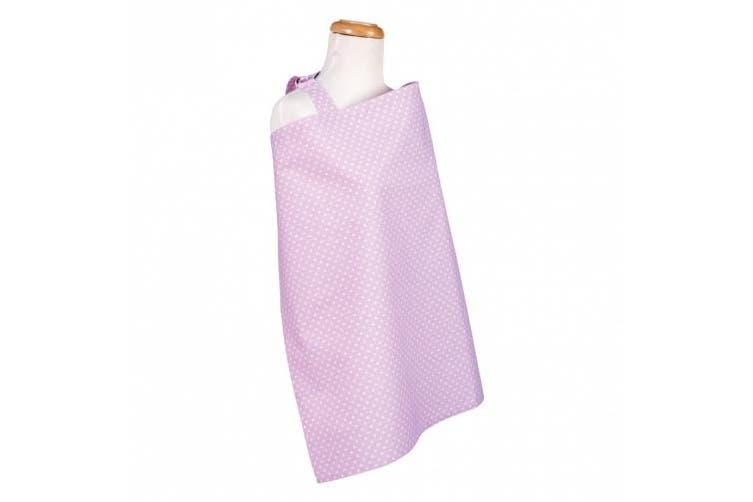 Trend Lab Orchid Bloom Dot Nursing Cover, Purple