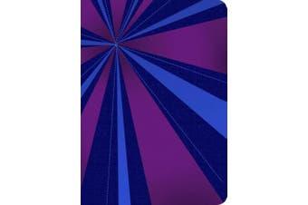 RVR 1960 Biblia Compacta Letra Grande, rayos de azul/violeta simil piel con indice [Spanish]