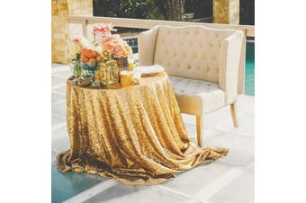(240cm ) - 240cm Round Sparkly gold Sequin Table Cloth Sequin Table Cloth,Cake Sequin Tablecloths, Sequin Linens for Wedding