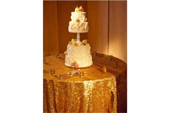 (230cm ) - 230cm Round Sparkly gold Sequin Table Cloth Sequin Table Cloth,Cake Sequin Tablecloths, Sequin Linens for Wedding