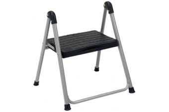 (1-Step) - Cosco One Step Step Stool Steel w/o handle, Platinum w/ Black Steps - 11014PBL1E