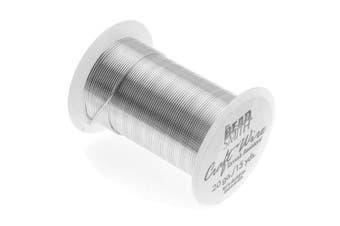 Beadaholique Tarnish Resistant Copper Craft Wire, 13.5m, Silver
