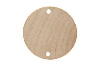 (100) - 2.5cm - 0.6cm Wooden Birthday Board Tags