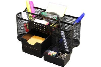(Black) - DecoBros Desk Supplies Organiser Caddy, Black